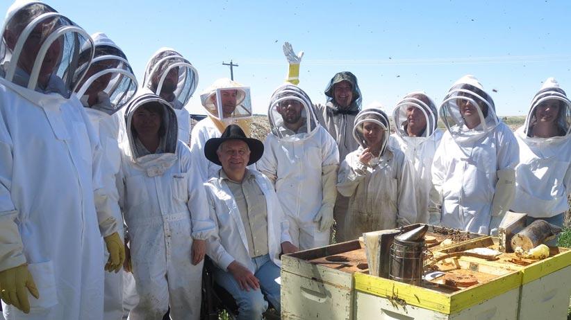 Ron Miksha - group of beekeepers