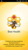 Bee Health App for Smart Phones — Calgary and District